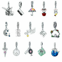 Voroco 925 Sterling Silver Charm Moon Travel Bead Pendant For Bracelet Necklace