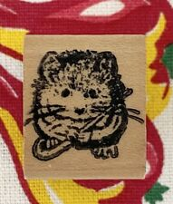 Vintage Tiny Hamster hardwood stamp mouse mice mickey mammal rodent gui 00006000 nea pig