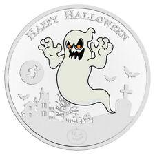 Niue 2$ 2017 Silver 999 Proof 1oz HALLOWEEN Glow-in-the-dark coin - GHOST