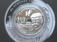France Silver 2003 1 1/2 Euro, 2004 Olympic Games in Athens Greece PROOF !!!