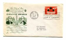 Canada 388 First Day of Issue - Fdc - 5 cent - Plains of Abraham - Rose Craft