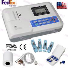 Digital Ecg Machine Portable 12 Lead One Channel Ekg Electrocardiograph Printer