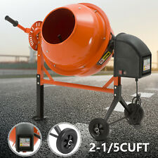 Portable 2-1/5 Cuft Electric Concrete Cement Mixer Barrow Machine Mixing Mortar