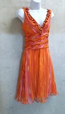 NAEEM KHAN Silk Dress Silk chiffon couture runway dress size 10