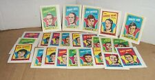 1971-72 TOPPS HOCKEY BOOKLET COMPLETE SET 24/24  EX COND ORR HOWE HULL DRYDEN