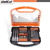 WellCut WC-DB62U HSS / MASONRY / WOOD Drill & Screwdriver Bit Set with 62 Pieces