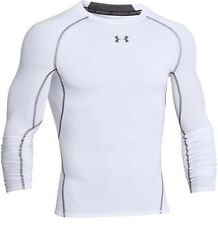 Under Armour 1257471 Men's White HeatGear L/S Compression Shirt - Size Large
