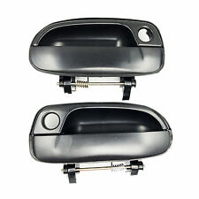 For Hyundai Outside Exterior Door Handle Front Right+Left Smooth Black Set 2 pcs