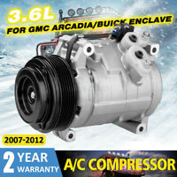 AC Compressor & Clutch For Enclave Traverse Acadia Outlook 3.6L 2007-2012 159260