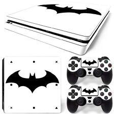 PS4 SLIM Skin Sticker Decal Cover 2 Controllers BATMAN LOGO 02