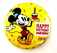 Happy 90th Birthday Mickey Mouse 2018 Disney Parks Exclusive Button D23 Limited
