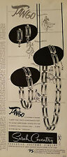 1954 Sarah Coventry Tango costume jewelry earrings bracelet necklace fashion ad