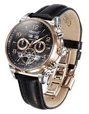 30 m (3 ATM) Armbanduhren aus echtem Leder mit Leuchtzeiger für Herren