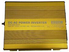 2000W/4000W (Peak) Pure Sine Wave Power Inverter 12V DC to AC Twin UK Plug NEW!