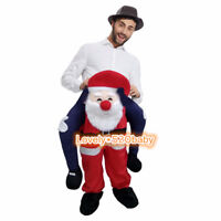 Santa Claus Mascot Christmas Father Costume Party Dress Adult Unisex Halloween @