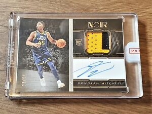 2017 Panini NOIR Donovan Mitchell RC Patch Auto 13/99 Encased RPA
