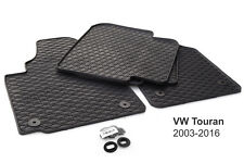 NEU! Gummimatten VW Touran 1T Original Qualität Gummi Fußmatten 4-teilig schwarz