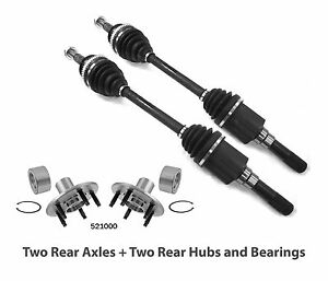 Set: NEW 2 Rear Hub Bearings + 2 Rear CV Axles for Explorer Mountaineer Aviator