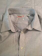 New TED BAKER Endurance Dress Shirt Gray Superfine Cotton Sz 17.5 Nwot