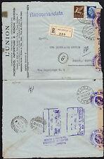 STORIA POSTALE RSI 1944 Raccomandata da Milano per Genova Nervi (FGA)