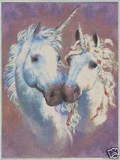 Matted Unicorn Lovers Foil Art Print~Affordable Art~8x10 Fantasy