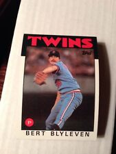 5 1986 TOPPS Baseball #445 Bert Blyleven Twins HOFer Vintage Collectible Cards