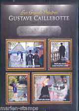 CENTRAL AFRICA 2012 GUSTAVE CAILLEBOTTE  SHEET MINT NH