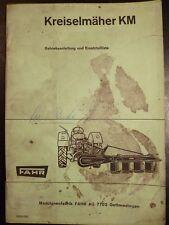 Fahr kreiselheuer kh20 instrucciones repuestos lista