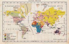 C2763 Razze Umane nel Mondo - Carta geografica d'epoca - 1936 vintage map