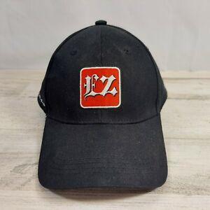 Baseball Cap Hat EZ Vapor Made Easy Black Red Adjustable Cotton Hook & Loop