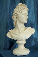 Statua Soprammobile Busto Apollo cm31 Patinata Antico