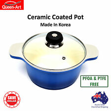 20cm Cooking Casserole Stew Stock Pot Non Stick Ceramic Coated Made In Korea