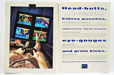 Streets of Rage 2 for Sega Genesis 1993 vintage video game two-page Print Ad