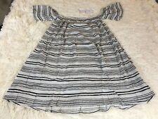 New Spiritual Gangster Brushtroke Stripe Island Dress Color WBK Size Small