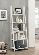 Birlea Nordic Scandinavian Retro Ladder Bookcase Shelving Shelf Unit White