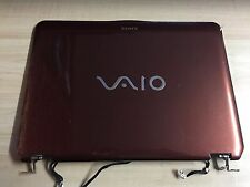 SONY VAIO VGN-CS PCG3GJP SERIES GENUINE TOP LID COVER + HINGES 3FGD2LHN0F0 BROWN