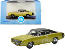 1968 DODGE CHARGER GOLD W/BLACK TOP 1/87 (HO) DIECAST MODEL CAR OXFORD 87DC68002