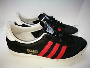 Adidas gazelle black suede casual trainers size 9