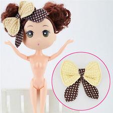 1 X Mini Curly Brown Buns Doll for ddung Kid Birthday Cake Mold Decor Tool PB