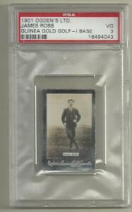 1901 Odgen's Guinea Gold James Robb PSA 3 Vg Golf