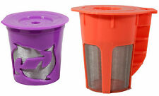Keurig 2.0 Refillable Orange K-Carafe and 1 Purple K-Cups Coffee Filter 2 Packs