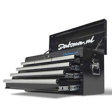 Werkzeugkiste mit 6 Schubladen & Quick-Lock-System schwarz Werkzeugkoffer Datona