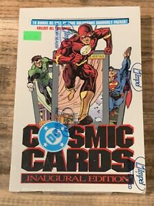 1991 COSMIC CARDS DC Comics Inaugural Edition FACTORY SEALED BOX IMPEL Holograms