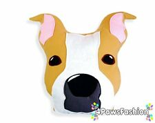 American Staffordshire Terrier Pillow. Stuffed Dog Toy. Handmade Stafford Dog