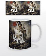 COLDPLAY VIVA LA VIDA 11 OZ COFFEE MUG MUSICIANS ROCK CHRIS MARTIN GRAMMY YELLOW