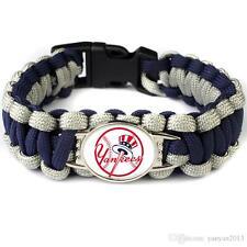 New York Yankees Navy Blue & Gray Team Logo Handmade Paracord Bracelet
