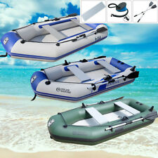 2-4 Person Inflatable Raft Fishing Dinghy Boat/sun shelter/Boat Engine/mount kit
