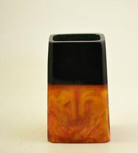 Vintage  Amber Bakelite Catalin Pen Holder / Vase 163g