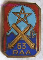 IN16419 - INSIGNE 63° Régiment d'Artillerie Afrique, étoile 5 pointes