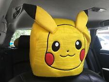Pikachu Pokemon Car Accessory : 1 piece Head Rest / Head Seat Cover